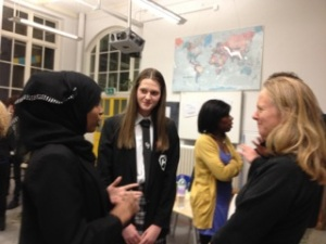 More mingling between Parents and Pupils at the Yerbury event for Holloway, William Ellis and Islington Arts and Media schools.